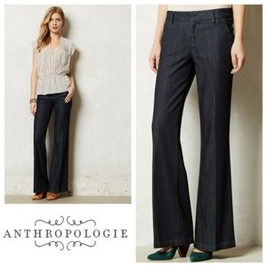 Anthropologie Level 99 Wide Leg Trouser Jean Sz 28